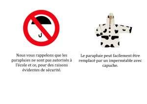 parapluies interdits